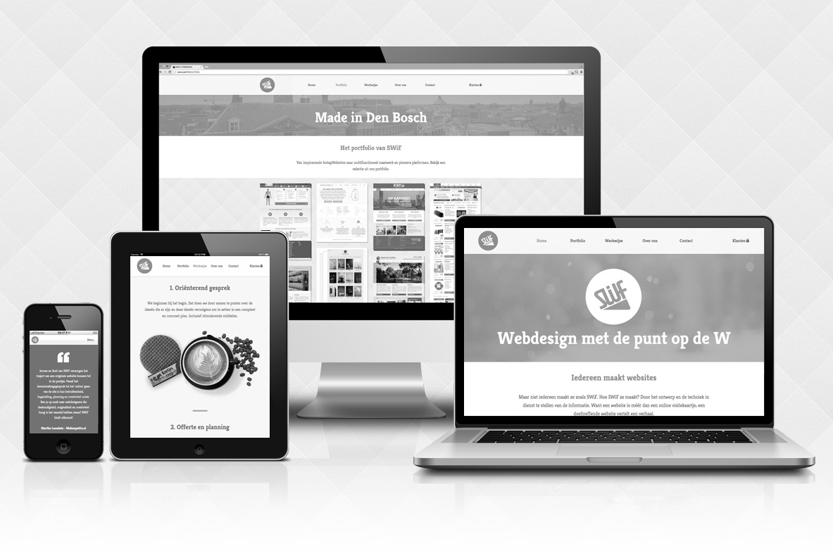 Een responsive website